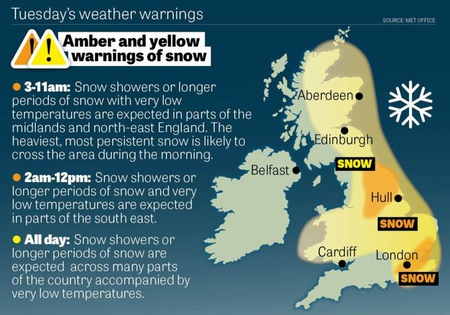 LIVE BLOG: Snow alerts for Northumberland and the North East