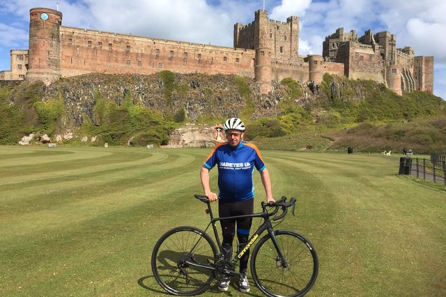 Paul Cassidy on one of his rides to Bamburgh.