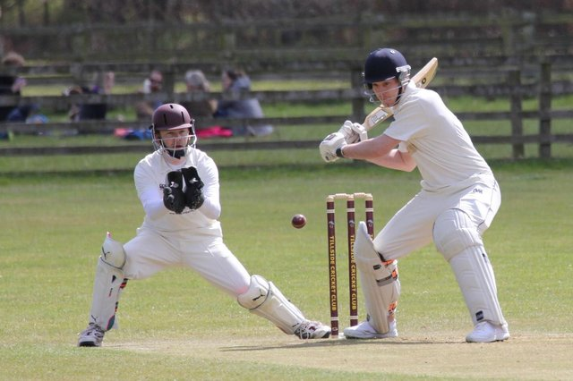 Action from Tillside 2nds v Alnwick 2nds, with the visitors batting.