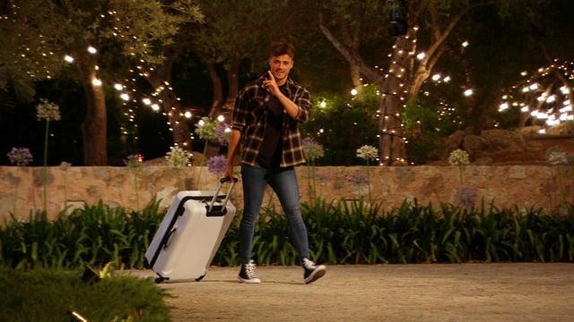 Fond farewell - Brad leaves the villa. Picture courtesy of ITV
