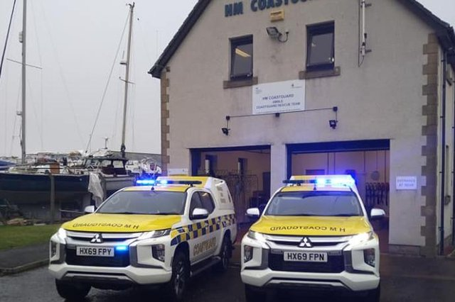 A photo shared by Amble Coastguard Rescue Team following the call out.