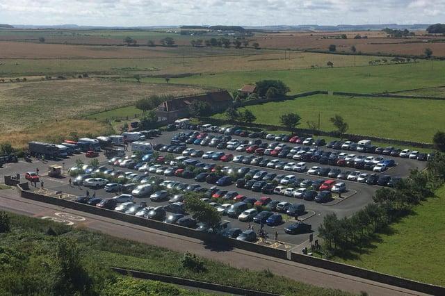 Bamburgh's main car park last summer.