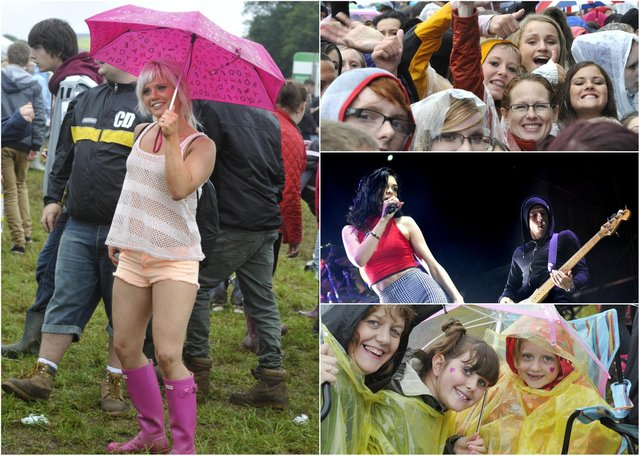 Scene from the Jessie J concert in Alnwick Pastures in August 2012.