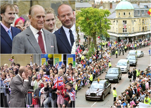 Prince Philip in Alnwick in 2011.