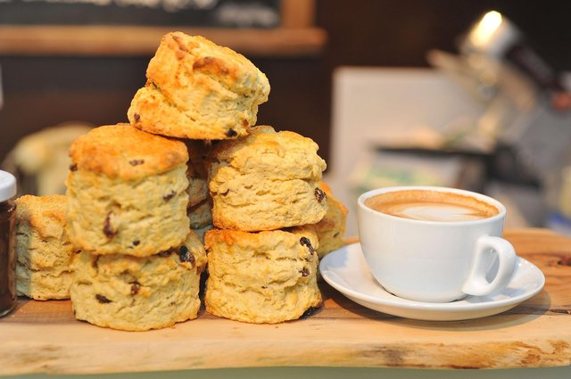 Coffee and scones.