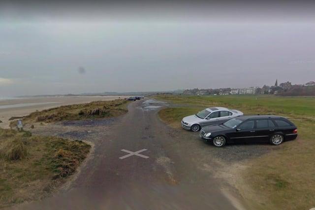 Alnmouth's beach car park.