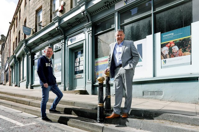 Tony Cullen of FW Capital and Robin Cairns of Northumbria Property Developments at the site in Alnwick, Northumberland. Photo: UNP/John Millard.