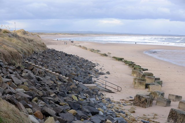 An object, believed to be a deceased whale,  has been spotted floating off the Northumberland Coast