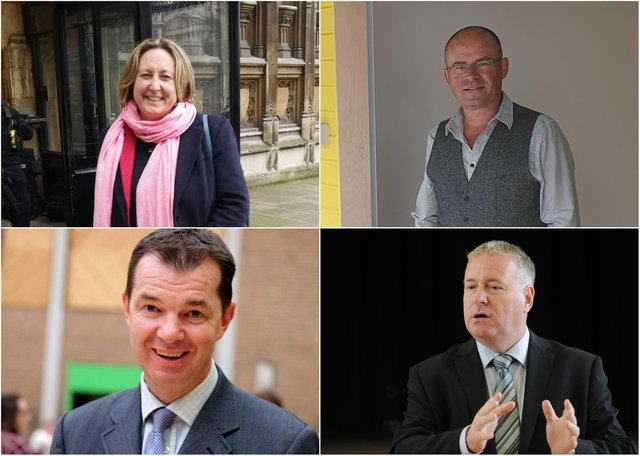 Clockwise from top left, Anne-Marie Trevelyan, MP for Berwick-upon-Tweed; Ian Levy, MP for Blyth Valley; Ian Lavery, MP for Wansbeck; and Guy Opperman, MP for Hexham.
