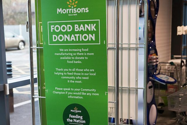 Morrisons is supporting Amble Food Bank. Photo: John Millard/UNP.