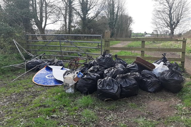 Litter collected from The Rec in Alnwick.
