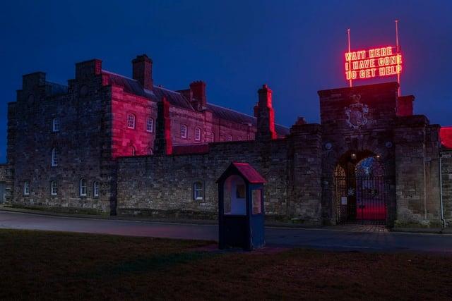 The art installation at Berwick Barracks. Picture: Colin Davison Photography
