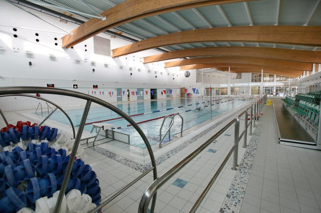 The swimming pool at Willowburn Sports and Leisure Centre, in Alnwick.