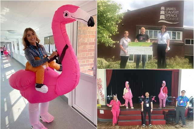 A flamingo-themed fundraiser celebrated the life of former JCSC teacher Rachel Parks.