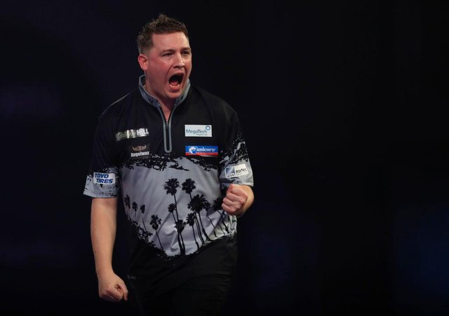 Bedlington-born Chris Dobey has sealed his first PDC ranking title at the Players Championship 18 in Coventry. (Photo by Luke Walker/Getty Images)