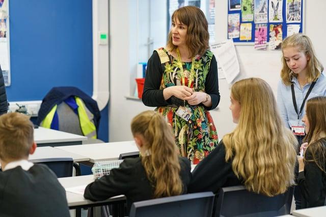Pupils at Duchess's Community High School in Alnwick.