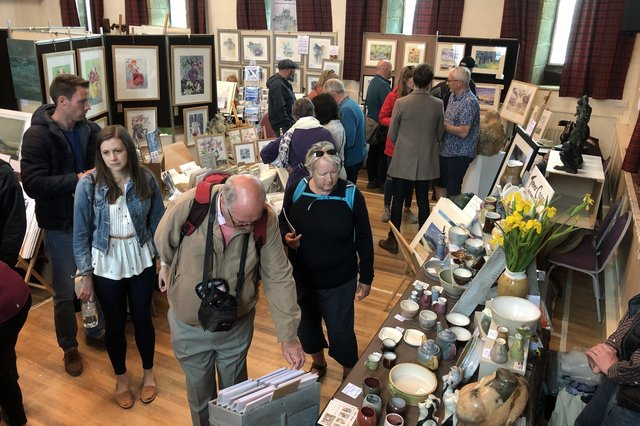 The Hindmarsh Hall during the 2019 Alnmouth Arts Festival.