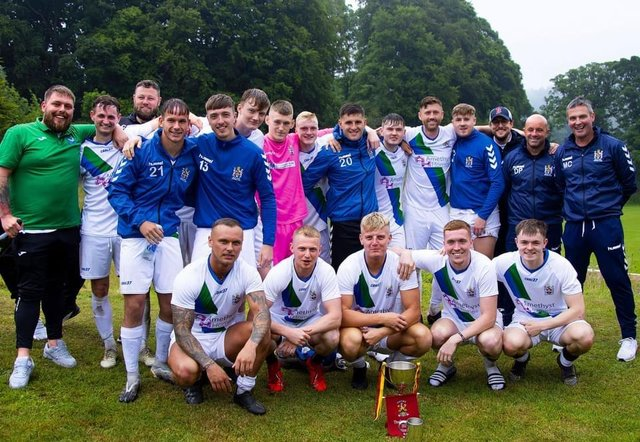 Blyth Town with the Coquet Cup.