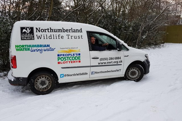 Dan Chapman, Northumberland Wildlife Trust estates officer, behind the wheel of the new VW Caddy. Picture: Lou Chapman.