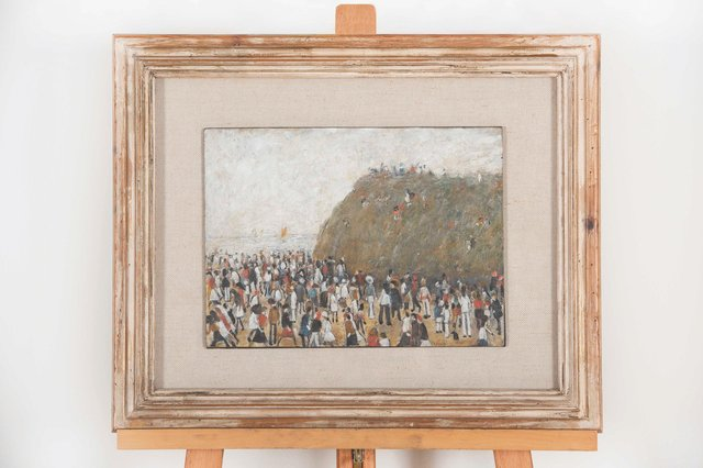 Lowry's 'Beach Scene' is to go on permanent display at Berwick Museum and Art Gallery. Picture: Museums Northumberland