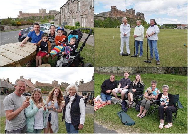 Families gather in Bamburgh ahead of the filming of the next Indiana Jones movie.