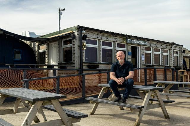 Martin Charlton, owner of Fish Shack, in Amble.