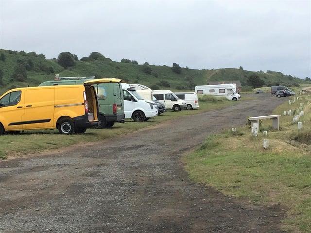 Campervans at Alnmouth last summer.