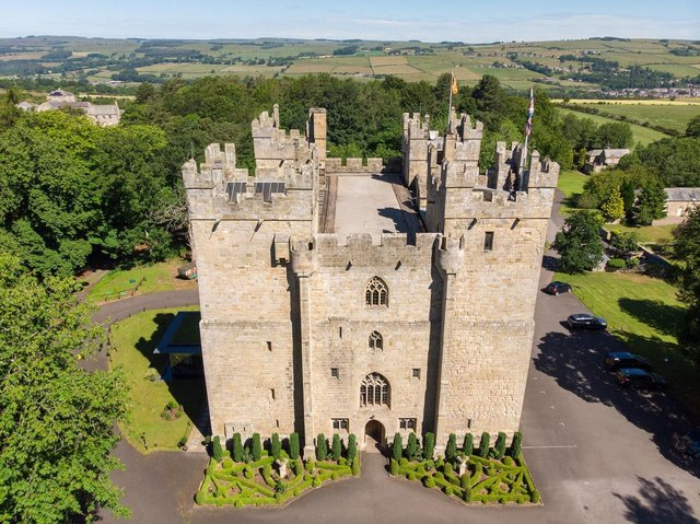 Langley Castle is offering fundraisers the chance to scale its medieval walls.