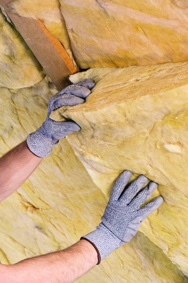 Home insulation being fitted