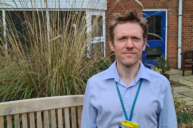 Dr Bryan Yates, the principal investigator for many of the Covid-19 studies at Northumbria Healthcare NHS Foundation Trust.