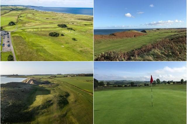 Golf in Northumberland.