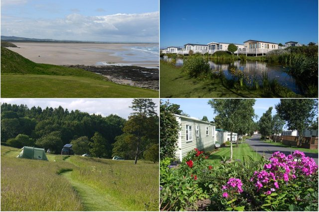 Camping and caravanning sites near the Northumberland coast.