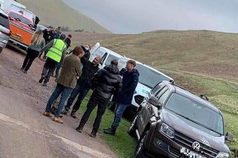 Top Gear filming in Upper Coquet Valley. Picture by Steven Bridgett.