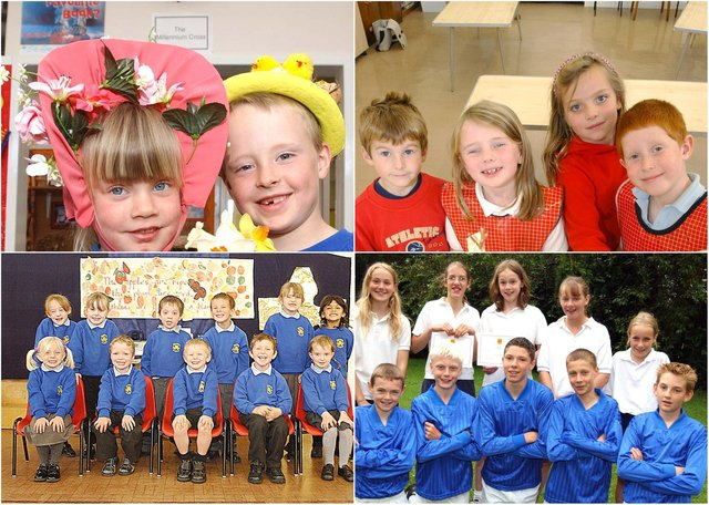 Scenes from schools in north Northumberland in 2003.