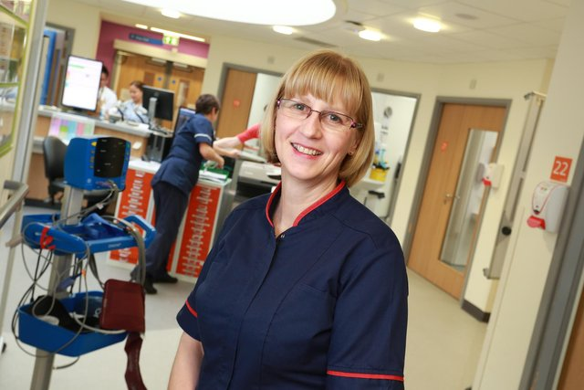 Sue Ewart, Northumbria Healthcare NHS Foundation Trust's chief matron for medicine and emergency care. Picture taken before Covid-19.