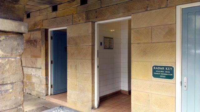 The public toilets in The Shambles in Alnwick town centre.