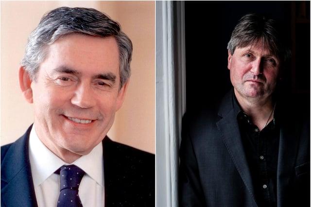 Gordon Brown and Simon Armitage.