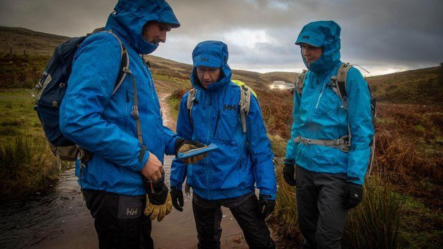 North of Tyne Mountain Rescue Team test out their new Helly Hansen kit in the Ingram Valley.