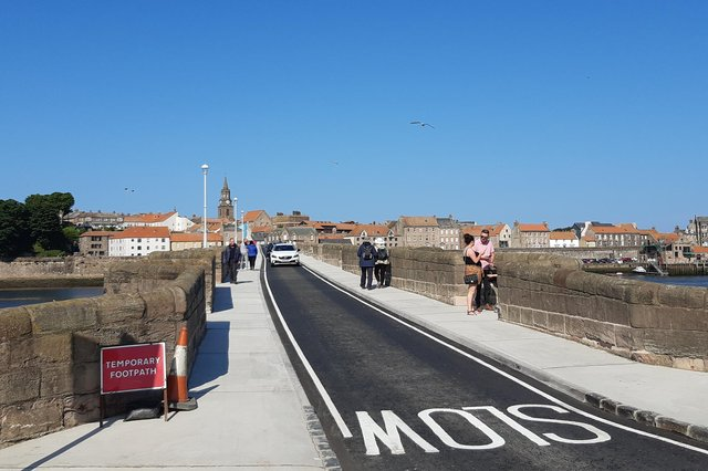 Berwick's Old Bridge has reopened to traffic and pedestrians following a major renovation project.