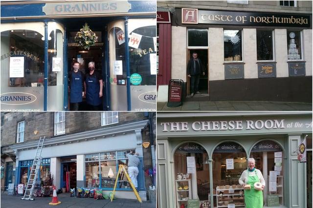 Alnwick shops open in lockdown.