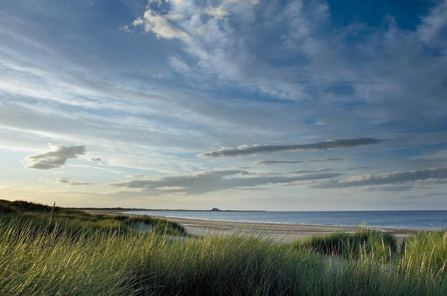 Ross Back Sands, looking towards Holy Island.