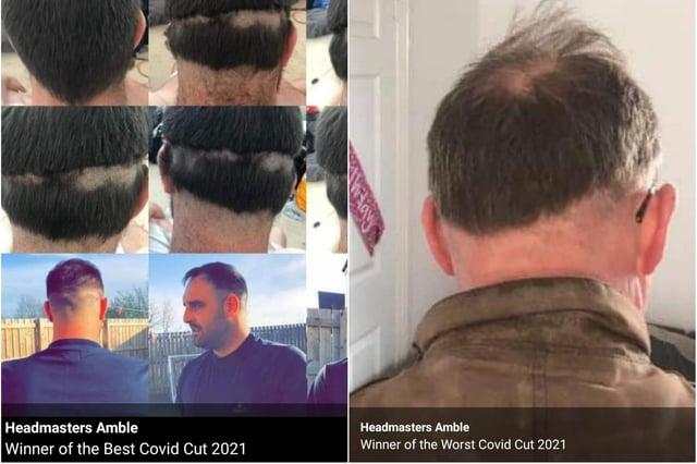 Headmasters in Amble ran a lockdown haircut competition.