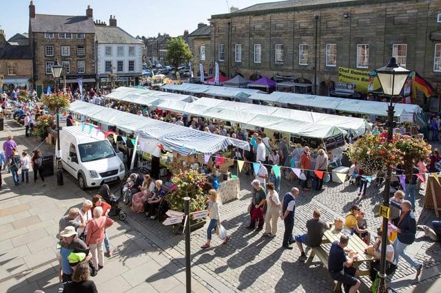 Alnwick Food Festival in the Market Square.