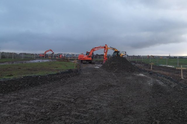 Construction is underway on a 45-home development by Bondgate Homes in Beadnell.