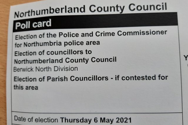 Polling card.