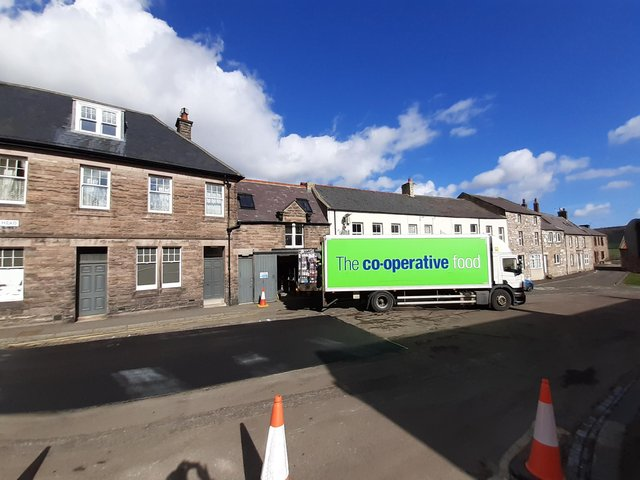 A formal loading bay is planned to improve safety when deliveries are being made to Wooler Co-op.