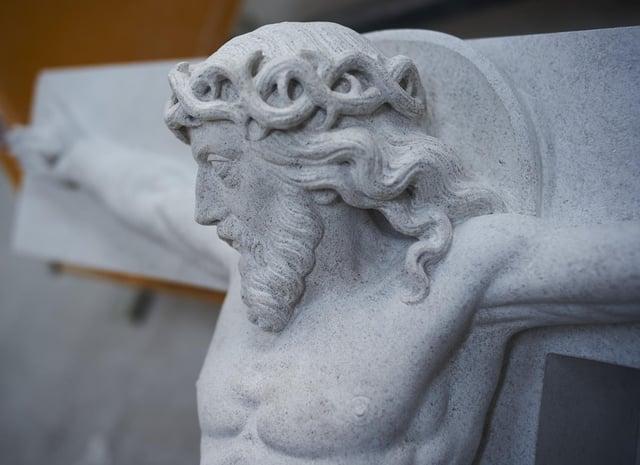 The new sculpture for Bamburgh war memorial.