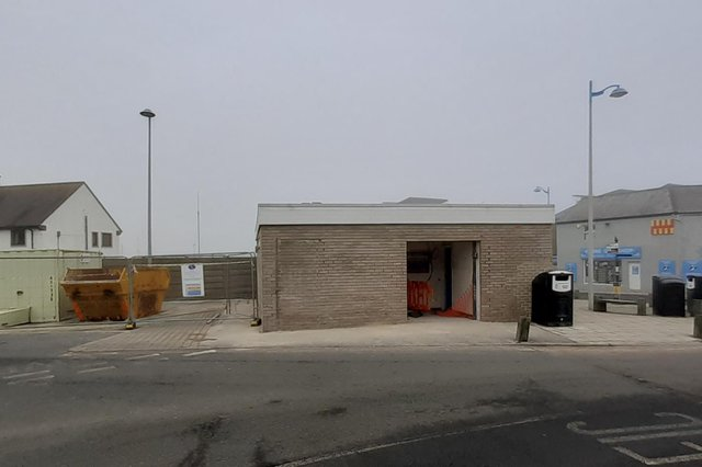 Refurbishment works at the public toilets in Seahouses.