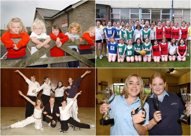 Scenes from north Northumberland schools in 2004.