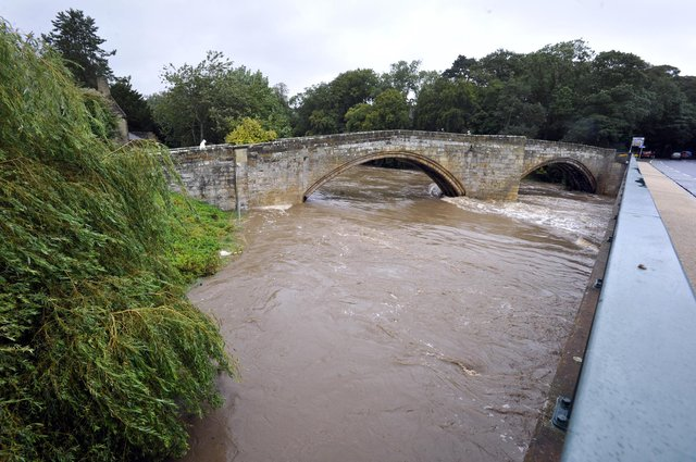 The River Coquet in Warkworth.